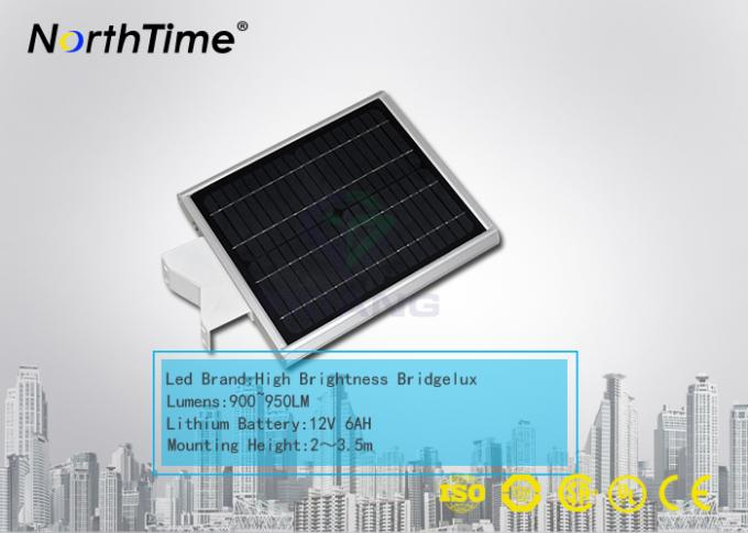 Bridgelux LED Chips Automatic Solar Street Light All in One with WiFi Control