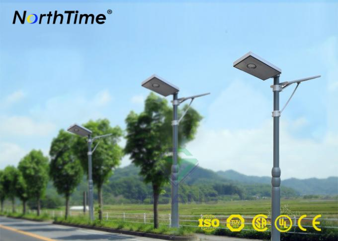 Cool Warm Motion Sensor Street Lights LED Outdoor Lighting Solar Powered Wifi Control