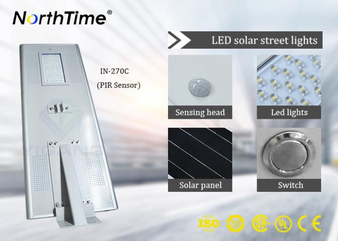 Industrial Parks Automatic Solar Street Light With Lithium Battery 12V 36AH