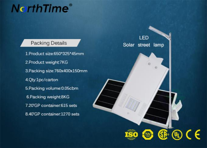 All In One Solar Powered Road Lights Last 4 Rainy Days Phone App Control