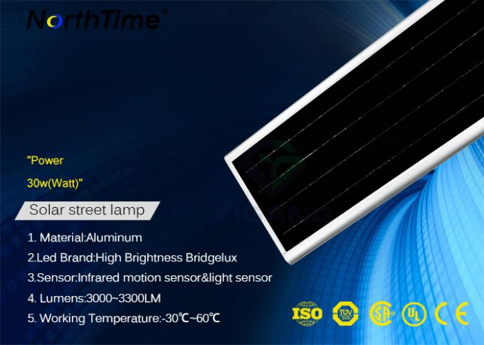 Intelligent Solar Powered Road Lights LED Built - In PIR Motion Sensor