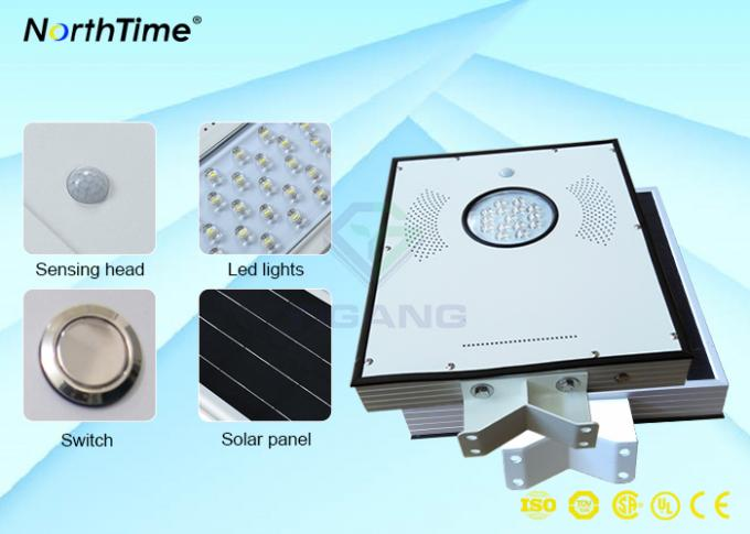Aluminum Alloy IP65 Solar Powered Street Lights Outdoor Photovoltaic System with Lithium Battery