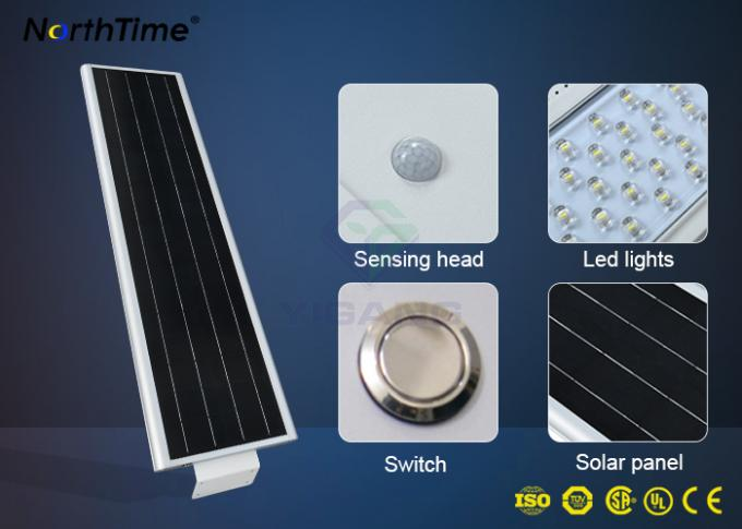 Rechargeable LED Solar Street Light Lithium Battery for Outdoor Lighting Project 6 Watt - 120 Watt
