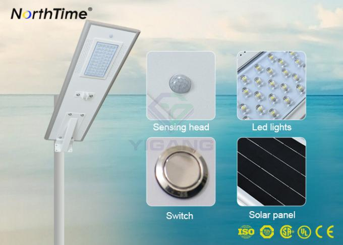High Brightness 60W Integrated Solar LED Street Light Fixture With 3 Years Warranty