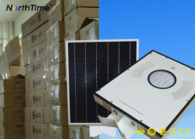 Phone App Control Smart Solar Street Light All in One Pole with 5 Years Warranty