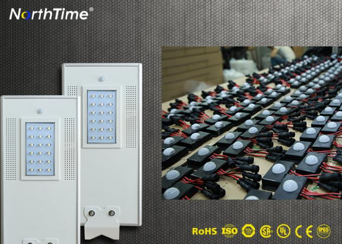 18W Automatic Time Control Solar Powered Road Lights Outdoor with CE RoHs Certificates