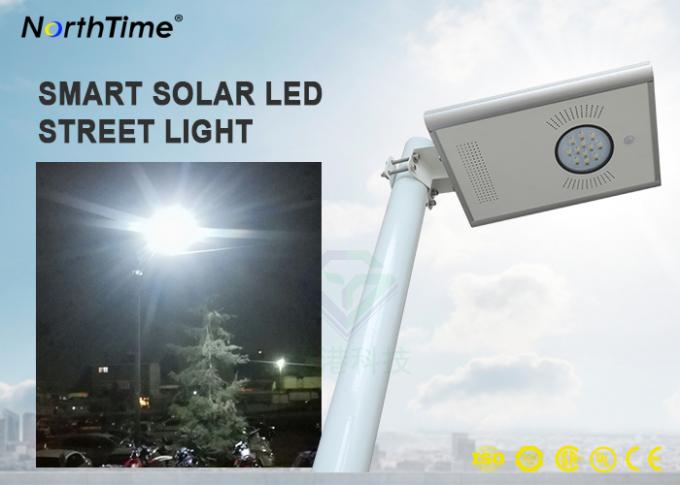 5 Years Warranty Solar Led Powered Street Lights All in One Design With Lithium Battery