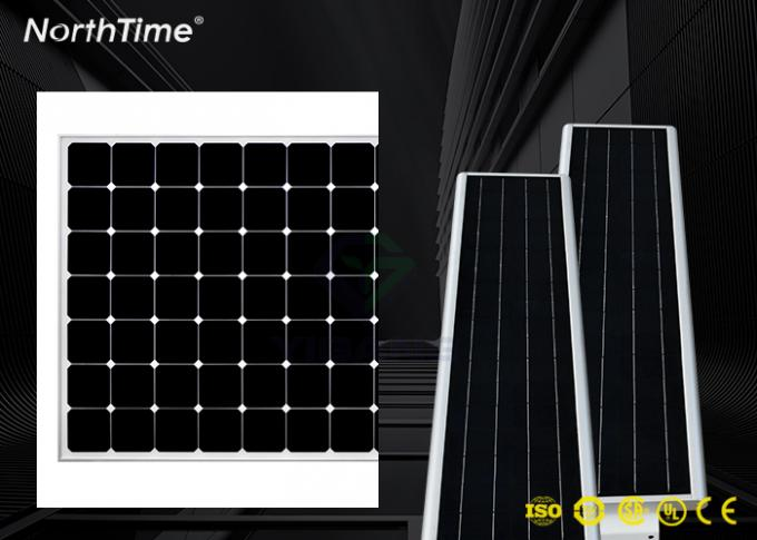 Dimmable 60W Solar Panel LED Street Lights With LiFePO4 Battery & Motion Sensor