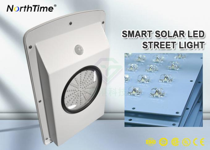 Free Sample 6W All-in-One Solar Garden LED Street Lights With Lithium Battery 4AH