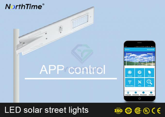 Automatic On / Off  Solar Power LED Street Lamp With Solar Panel & Li Battery