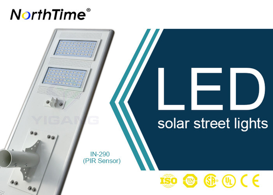 चीन Bridgelux LED Chips Automatic Solar Street Light All In One Motion Sensor Control आपूर्तिकर्ता