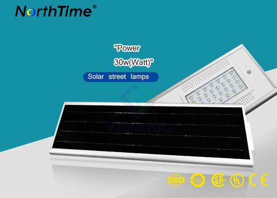 चीन Waterproof 30W All In One Solar Powered Road Lights CE RoHs Certificated आपूर्तिकर्ता