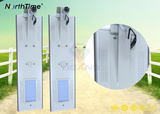 चीन PIR Motion Sensor Street Lights Outdoor LED Street Lights Solar Power with CCTV Camera​ आपूर्तिकर्ता