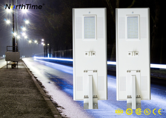 चीन 6500k-7000k  9000LM Solar Panel Street Lights with Lithium Battery 60AH आपूर्तिकर्ता