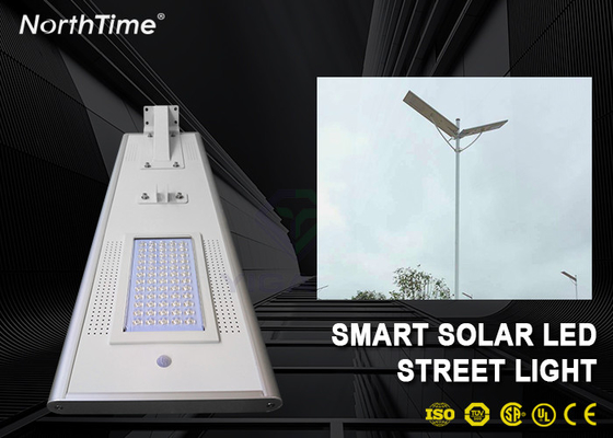 चीन Dimmable 60W Solar Panel LED Street Lights With LiFePO4 Battery & Motion Sensor आपूर्तिकर्ता