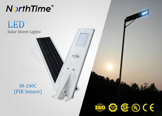 PIR Sensor Smart Solar Street Light All In One , Solar Powered LED Street Light With Camera