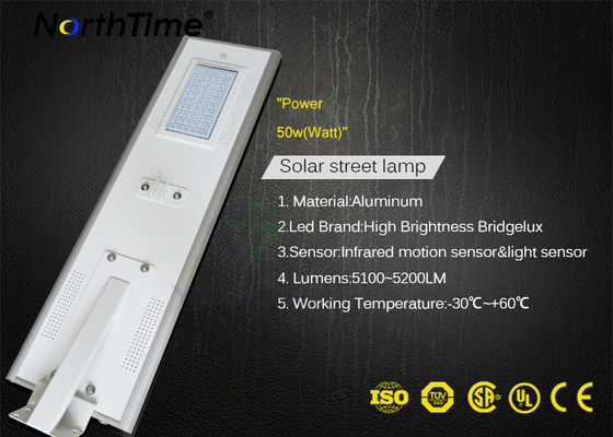 चीन Solar powered street lights system PIR Sensor Waterproof Government Projects 115LM/W फैक्टरी