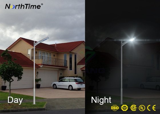 चीन USA Bridgelux LED All In One Solar Street Light With Mono Solar Panel MPPT Controller फैक्टरी