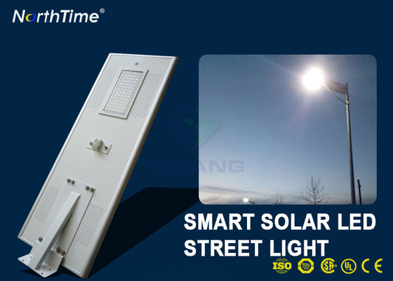 चीन 7000K 80 W Solar Powered LED Street Lights With Lithium Battery Motion Sensor फैक्टरी