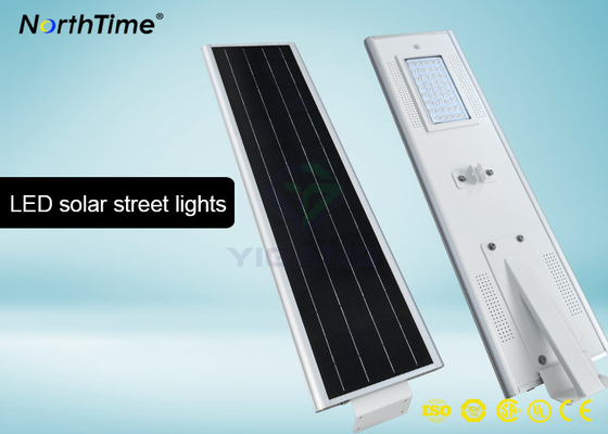 चीन Bridgelux LED 40 W Motion Sensor Street Lights With 4 Days Back Up Battery 4700 - 4800LM फैक्टरी